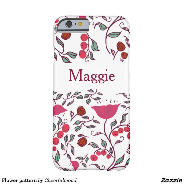 Flower pattern barely there iPhone 6 case