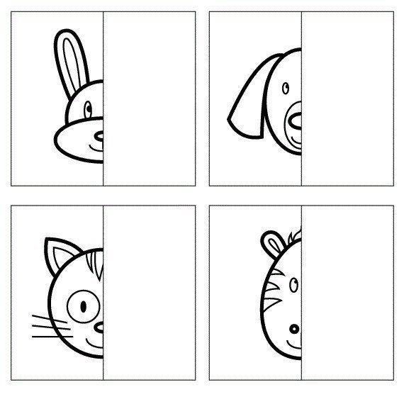 Дорисовать картинки животных