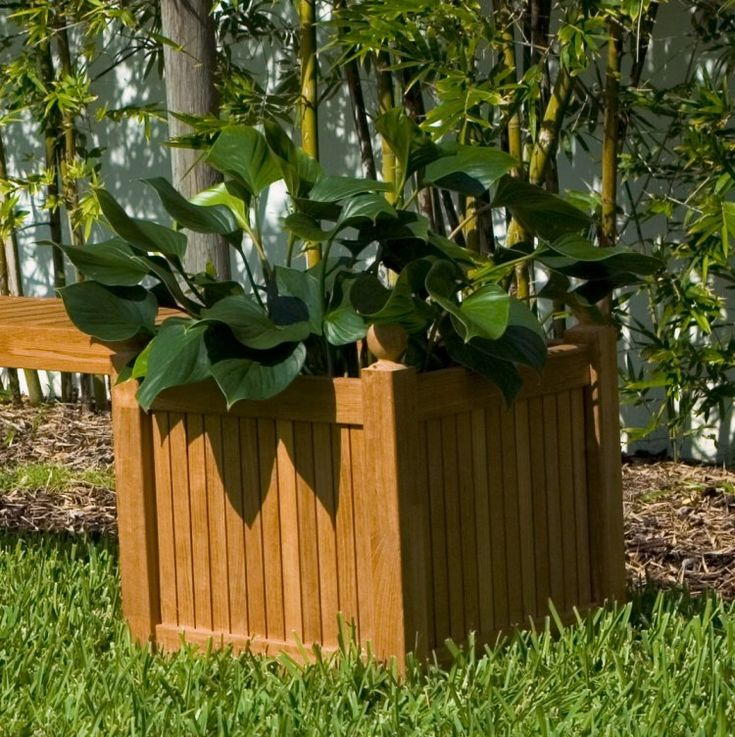 Westminster Teak Square Planter - Westminster Teak Outdoor Furniture