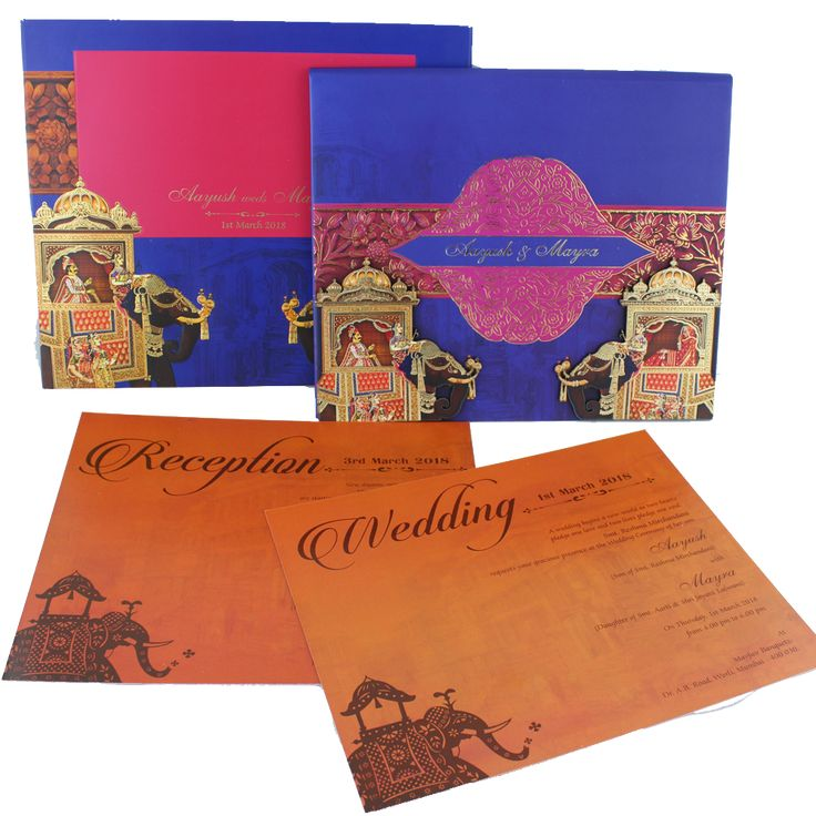 Elephant Graphics Marriage Invitation Card Wedding Cards Card Box Wedding