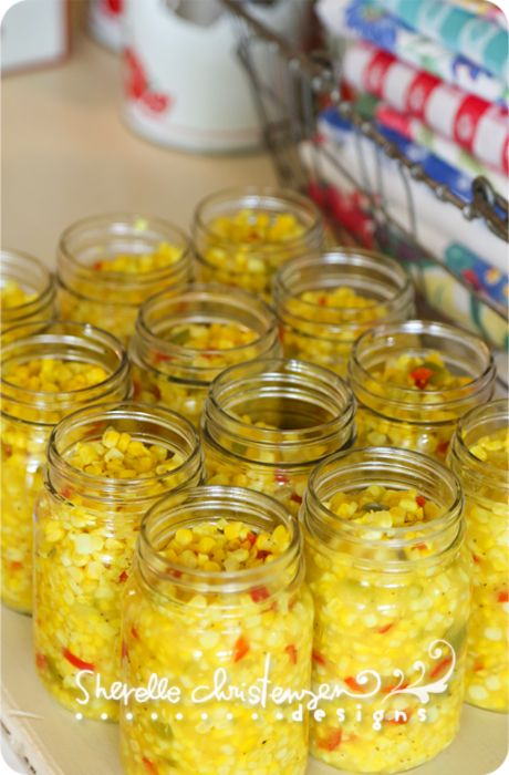 """Canning Corn by """"My Crazy Life as a Farmer's Wife (Sherelle Christensen). This gal is fabulous!  I want to be her."""