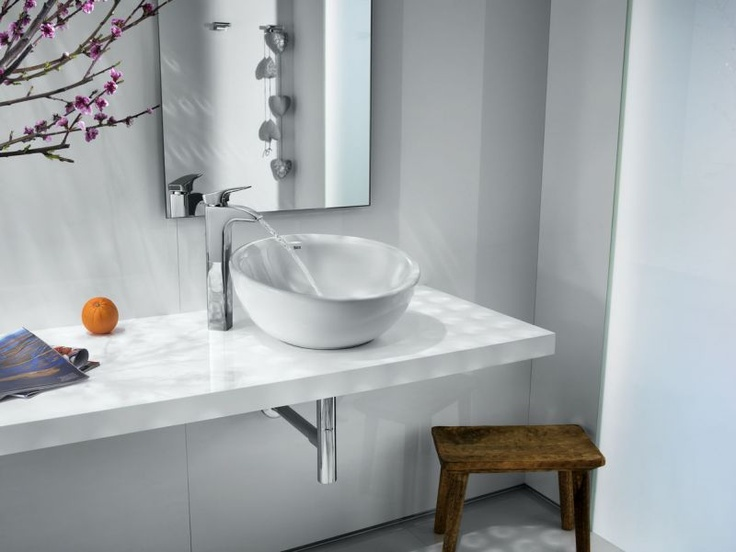 Roca Round Bol Ceramic Countertop Basin   Buy Countertop Bathroom Basins from UK Bathrooms. 17 Best images about Contemporary Forms on Pinterest
