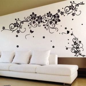Vine Flower Butterfly Wall Art Wall Stickers Wall Decals From Amazingsticker
