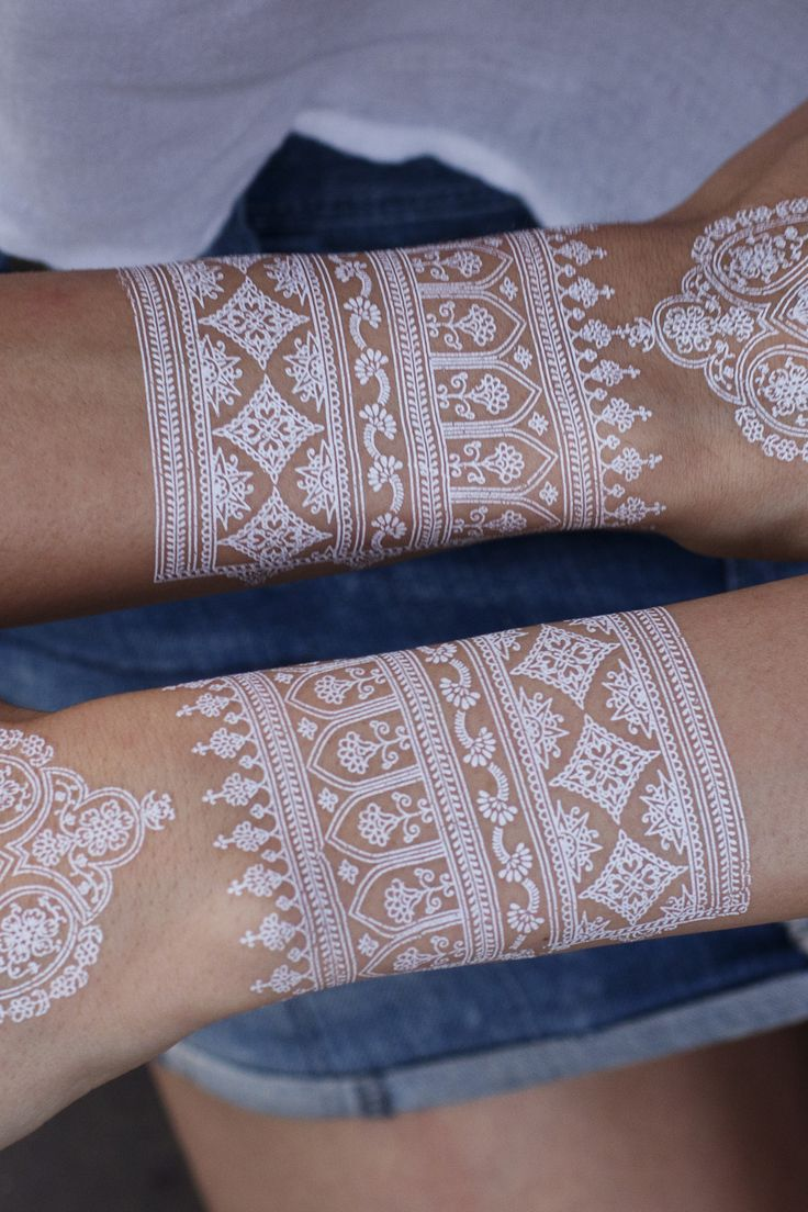1000 Ideas About White Henna On Pinterest Hennas Henna Tattoos