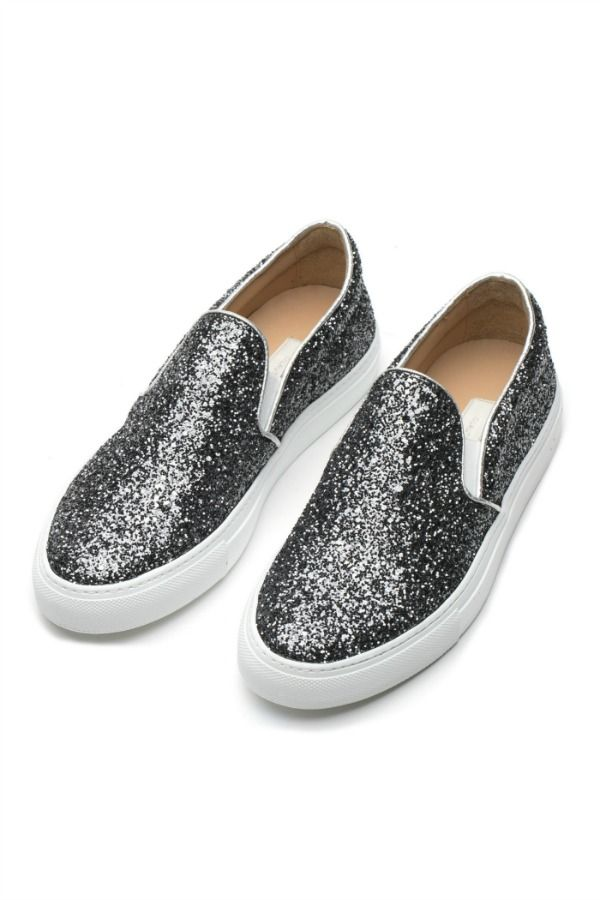 L'Autre Chose grafite sneakers. #lautrechose #shoes #sneakers #fashion #glitter #grafite #ss15