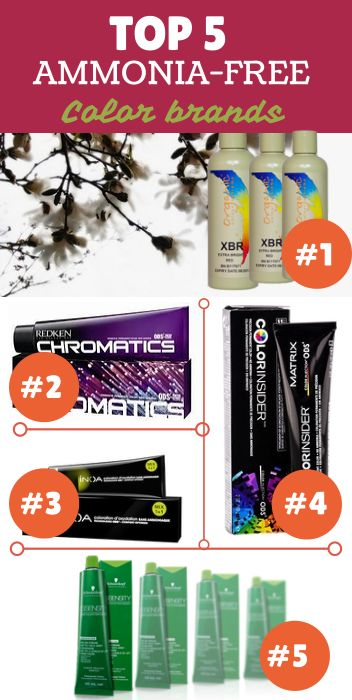 Top 5 Ammonia-Free Hair Color Brands 2014 [BLP RCA 2014].