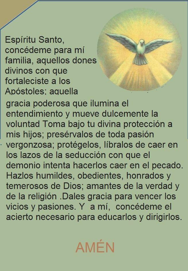 oración Esíiritu Santo por la familia