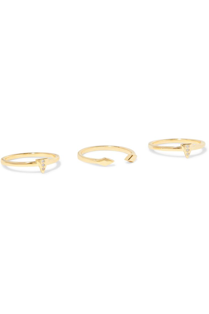 Shop on-sale Noir Jewelry Set of three gold-tone crystal rings. Browse other discount designer Jewelry & more on The Most Fashionable Fashion Outlet, THE OUTNET.COM