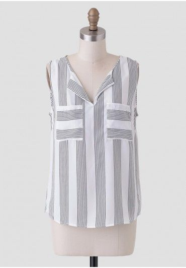 Picture This Striped Tank | Modern Vintage Clothing | Ruche