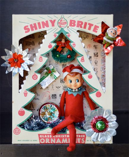 Pixie Elf Christmas Shadow Bow courtesy of http://goodygirlred.com/