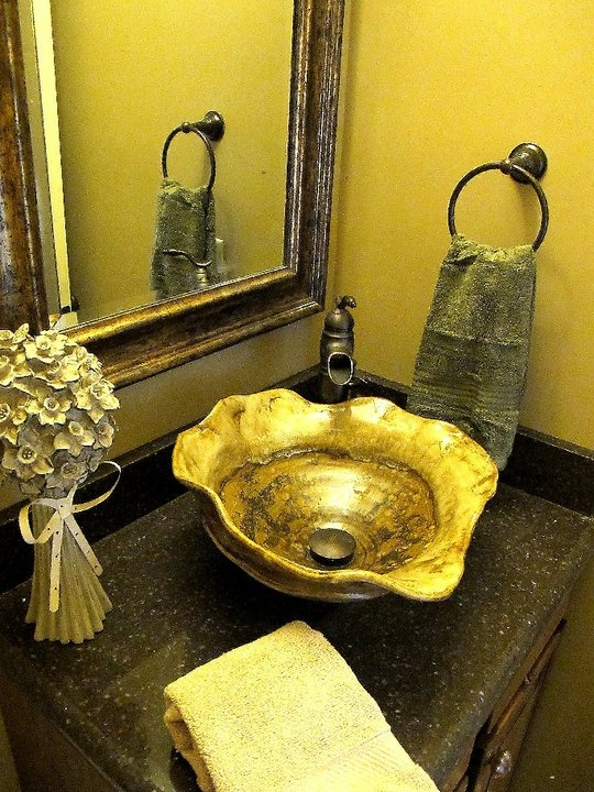 Handmade Pottery Vessel Sink, Luxe Home Furnishings, Luxe Homes And Design,  Knoxville Design