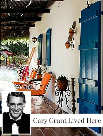 That blue!!!! Cary Grant's Former Home in Palm Springs | hookedonhouses.net