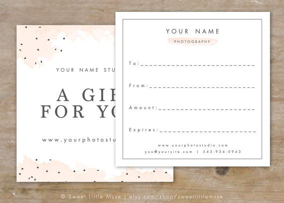 10 best Gift Certificate images on Pinterest Gift certificates - best of photographer gift certificate template