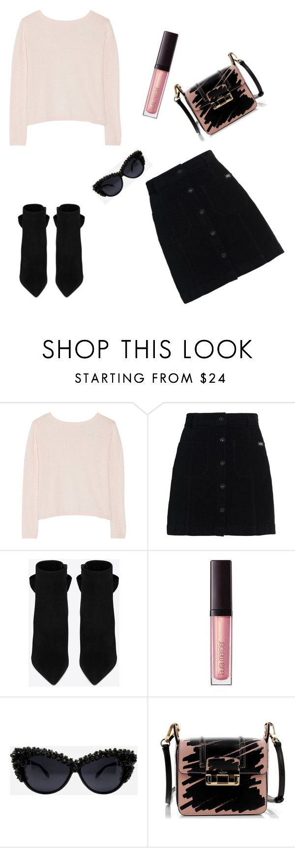 """""""Untitled #173"""" by dariabadea ❤ liked on Polyvore featuring Banjo & Matilda, Superdry, Yves Saint Laurent, Laura Mercier and Lanvin"""