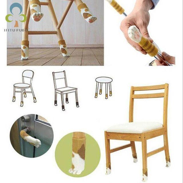 4pcs//set Knit Socks Chair Table Feet Leg Pads Set Floor Protector Home Decor