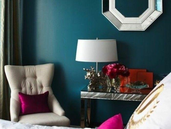 Die besten 25+ Wandgestaltung petrol Ideen auf Pinterest - wohnzimmer grau petrol