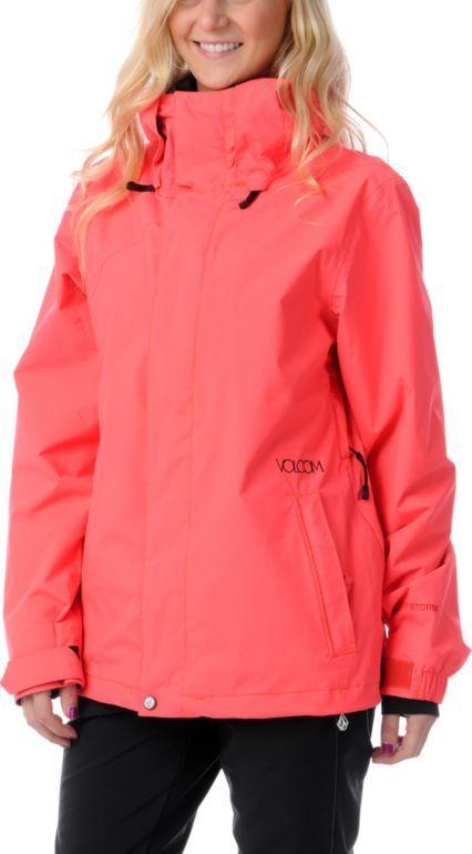 Volcom Mellea Firecracker Red Snowboard Jacket