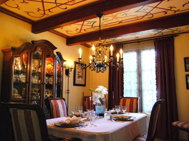 Spanish Style Colonial Dining Room