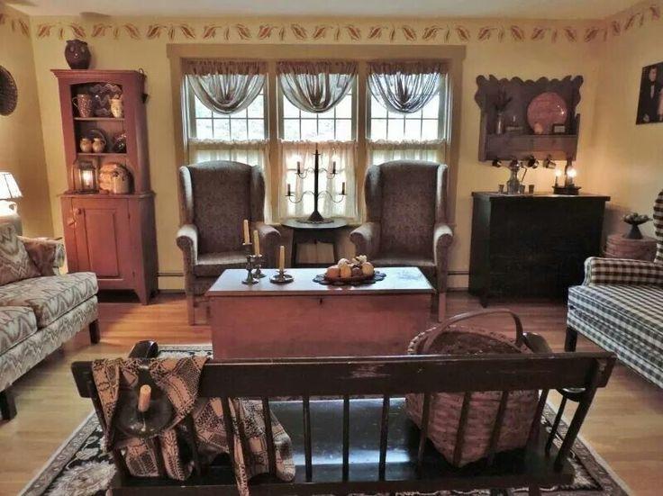 85 best PRIMITIVE LIVING ROOMS images on Pinterest Primitive