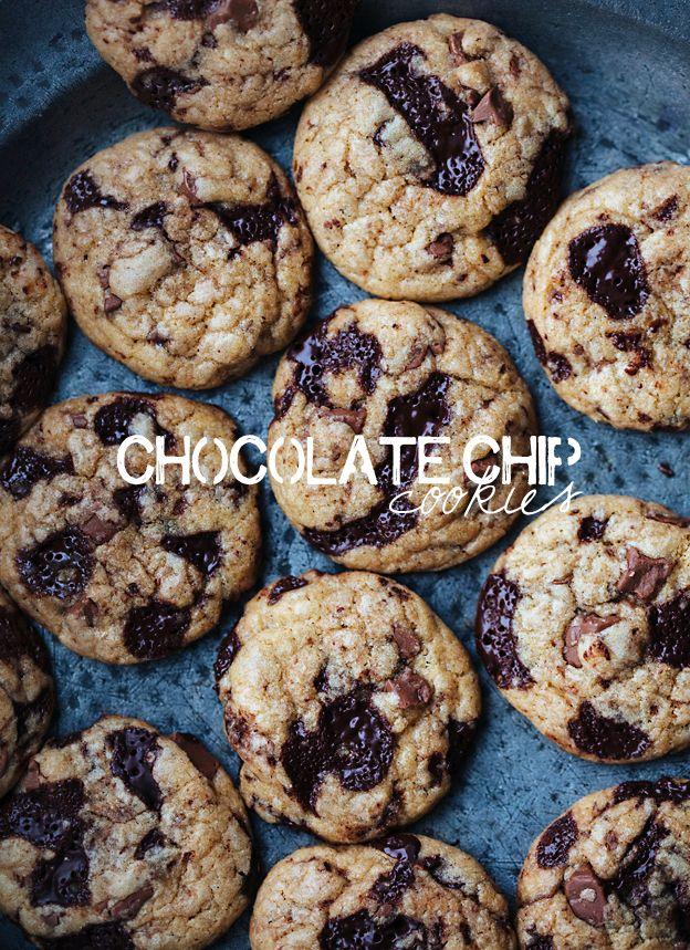 magdalenas de chocolate dobles y galletas de chocolate