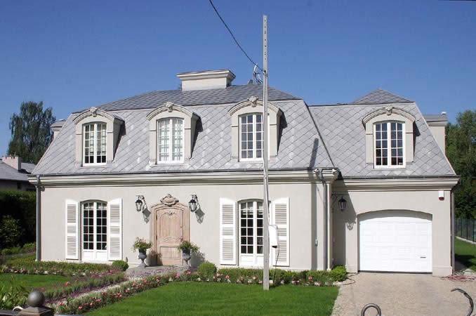 białe okna czerwony dach - Szukaj w Google
