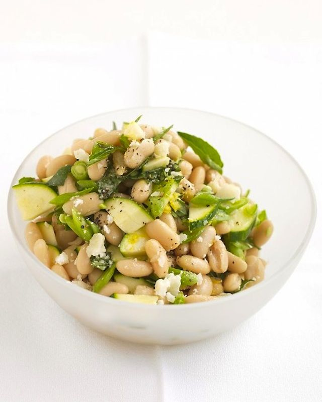 zucchini, parmesan and white bean salad