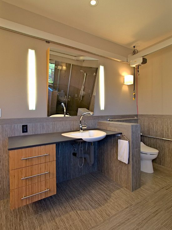 34 best wheelchair accessible bathroom images on pinterest for Pictures of handicap bathrooms