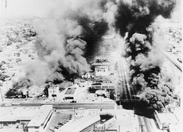 Los Angeles during the Watts Riots, August 1965. New York World-Telegram photo.