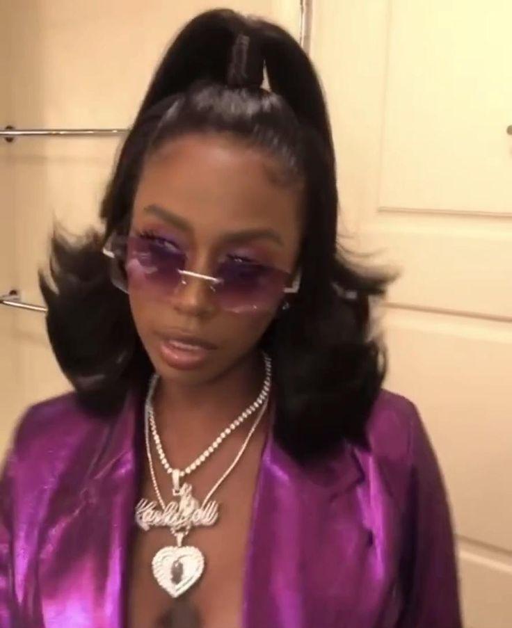 kash doll 🖤🤍💜 [Video] | Black hair 90s, Black women ...