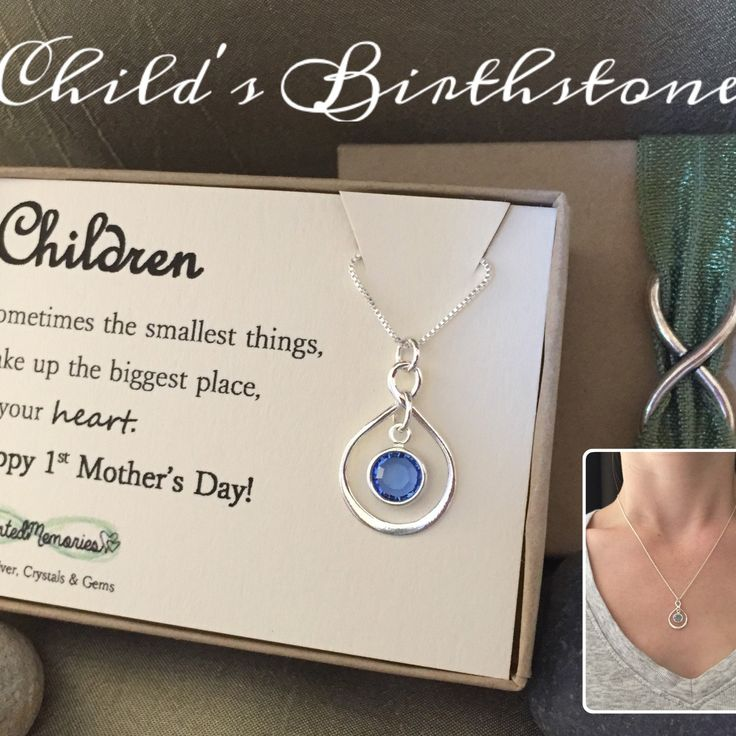 First Mother's Day gift New mom necklace by ImprintedMemories