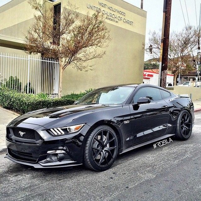 """2015 Mustang 5.0 on Zito wheels - not a FORD fan but this stang is pretty dope looking."