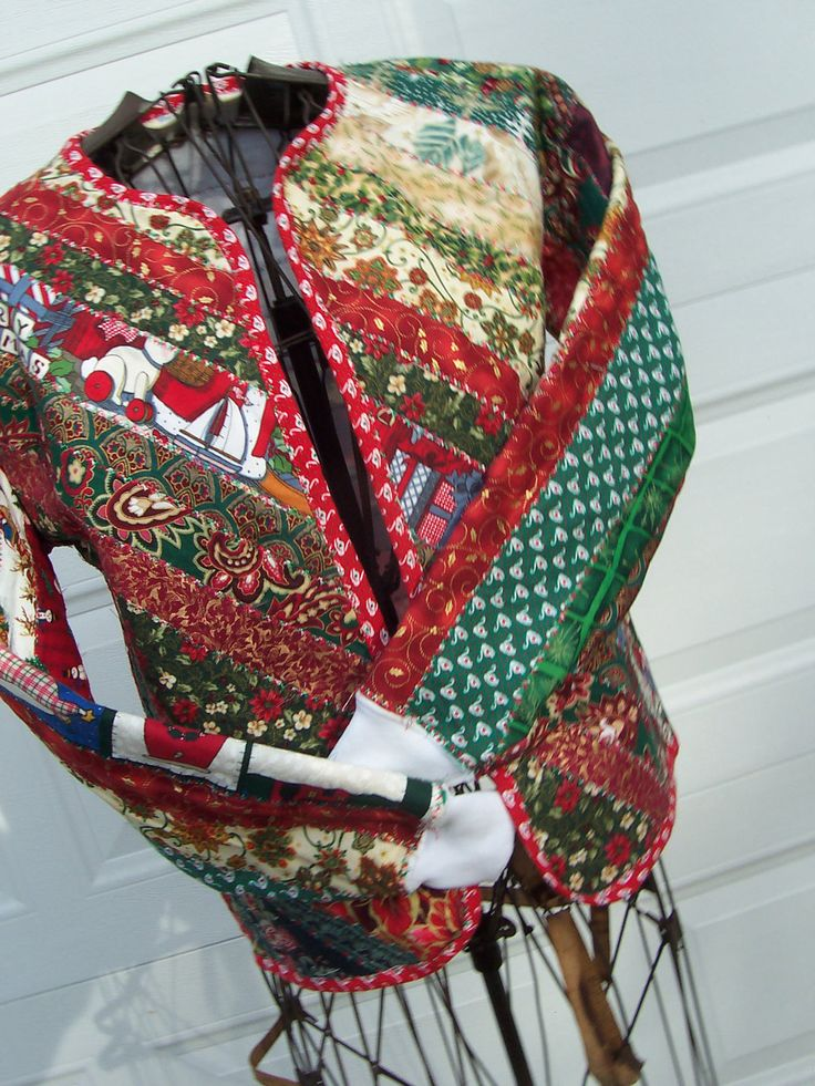 Merry Christmas Blocks - Youth size large/adult size small quilted sweatshirt jacket. $50.00, via Etsy.