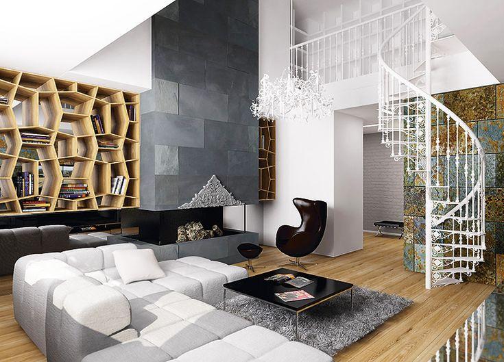 Чувство дома: двухэтажная квартира в Киеве