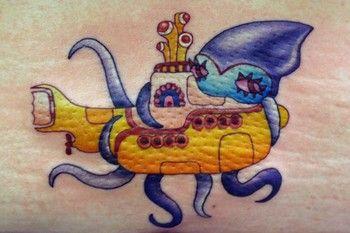 Squids <3 The Beatles Tattoo