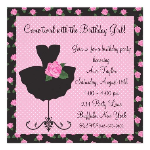 84 best images about Dance Ballet Party Invitations – Party Invitation Designs