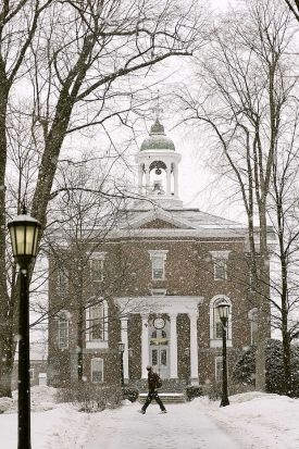 Bates College, Hawthorn Hall, in winter!  Proud of my alma mater!
