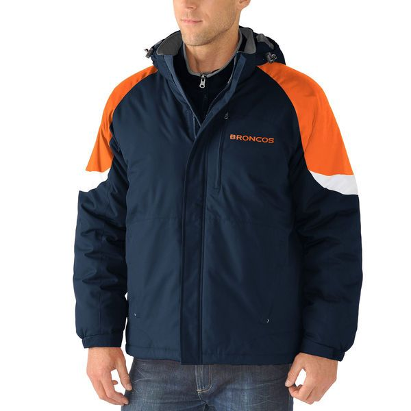 Denver Broncos G-III Sports by Carl Banks End Zone Systems 3-in-1 Jacket - Navy - $149.99