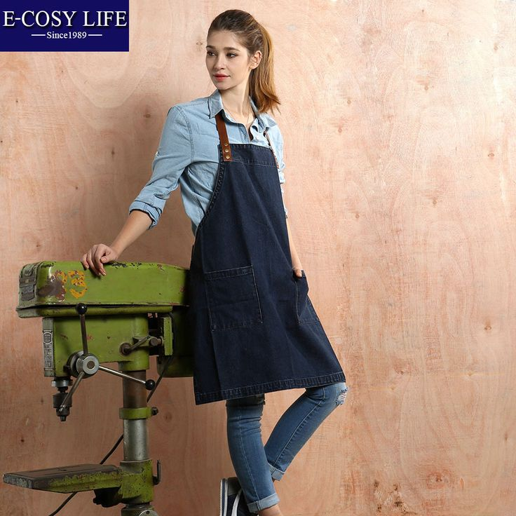 Find More Aprons Information about  Kitchen Apron Denim Sleeveless Sexy Aprons Korean Naked Work Cooking Apron For Food Watetproof Chef Apron,High Quality apron baby,China aprons custom Suppliers, Cheap apron kitchen from E-COSYLIFE AESTHETIC HOME TEXTILE on Aliexpress.com