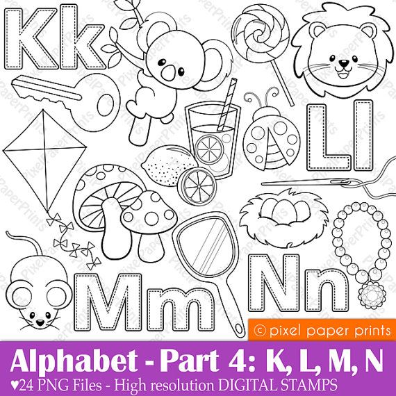 abecedario K, L, M,N