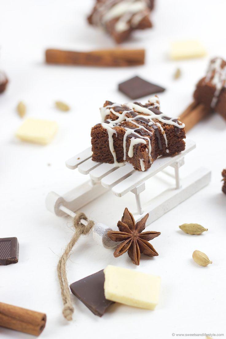 Saftige weihnachtliche Schoko Brownie Sterne mit Lebkuchengewürz // Christmas Chocolate Brownie Stars // Sweets and Lifestyle