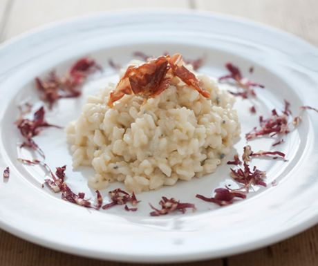 Recipe of the week: Risotto with gorgonzola, pears and crispy ham http ...