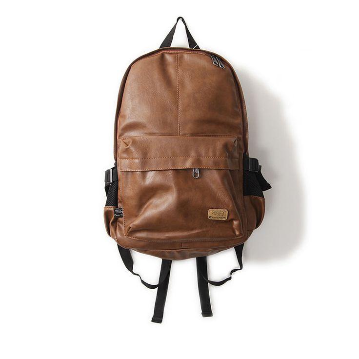 $23.99 (Buy here: https://alitems.com/g/1e8d114494ebda23ff8b16525dc3e8/?i=5&ulp=https%3A%2F%2Fwww.aliexpress.com%2Fitem%2F2015-New-designer-brand-fashion-black-genuine-leather-men-s-backpacks-preppy-style-brown-men-backpack%2F32465074670.html ) Designer brand fashion bag black genuine leather men's backpacks preppy style brown men backpack bolsas mochila feminina for just $23.99