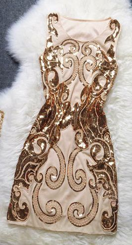 Embroidered Sequins Sleevelss Dress --Definitely a stand out dress!