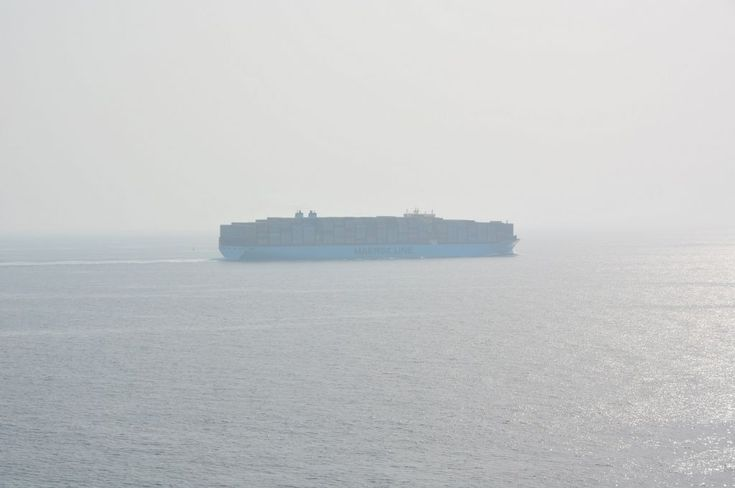 MARSTAL MAERSK, I made this shot during navigation in red sea.