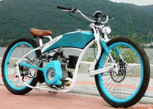 Bicicleta Motorizada, Motor 4 Tempos, Bike Chopper, Custom - R$ 7.300,00 no MercadoLivre