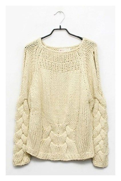 Placed cables #sweater #knitwear #fashion