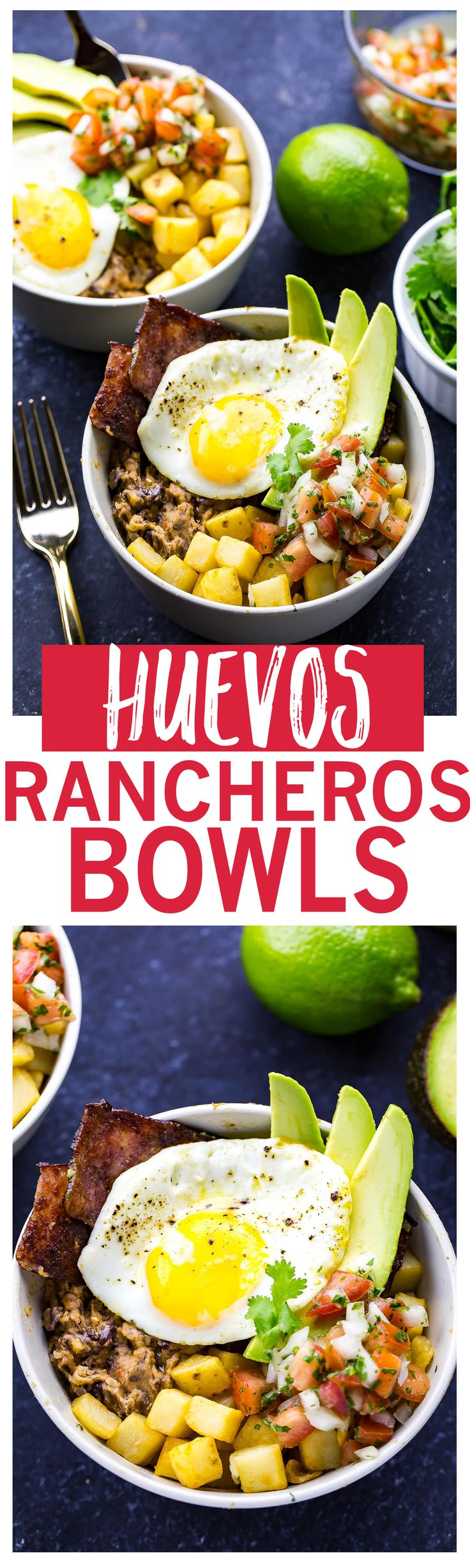 Huevos Rancheros Breakfast Bowls are a delicious brunch idea and the kind of breakfast you'll want to wake up to every morning!