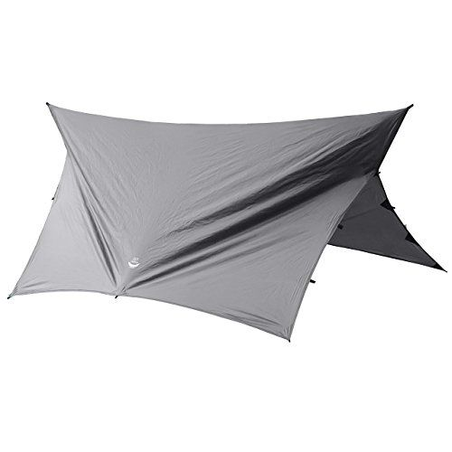 Go Outfitters Apex Camping Shelter/Hammock Tarp, Slate Gray. For product & price info go to:  https://all4hiking.com/products/go-outfitters-apex-camping-shelter-hammock-tarp-slate-gray/
