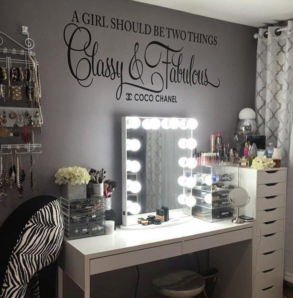 We believe the same applies to vanity stations and what better example than @light1113's own glamorous #ImpressionsVanityGlowXL haven! #cocomademedoit #chanel #repost Featured: Impressions Vanity Glow XL with Frosted LED Bulbs.