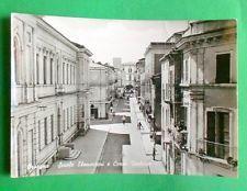 Cartolina Orsogna - Scuole Elementari e Corso Umberto I - 1957